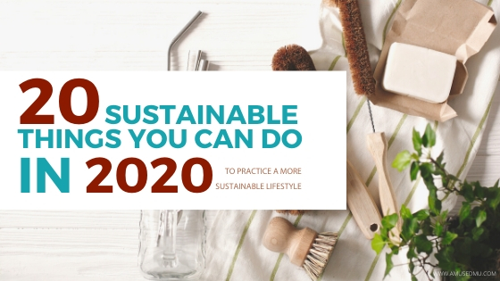 20 Sustainable Things You Can Do in 2020